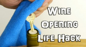 HACK: How to Open Wine in an Emergency with a Key