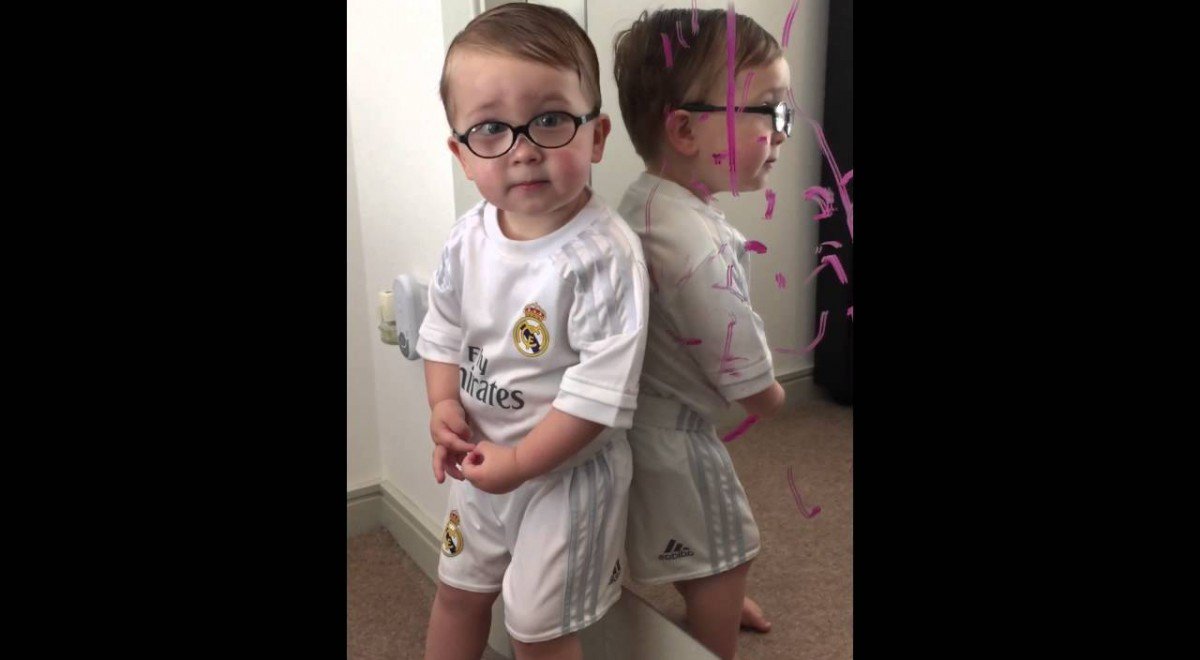 You Won't Believe Who Actually Scribbled On Mommy's Mirror… (video)