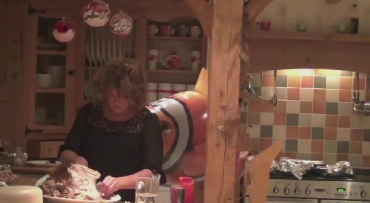 Giant Fish Attacks Mom (video)