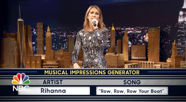 Celine Dion's impressions of Rihanna, Sia and Cher will go on!