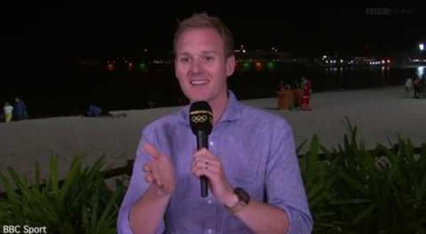 BBC Presenter's awkward reaction to couple having 'sex' on Rio beach