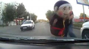 Most bizarre moment while driving caught on camera