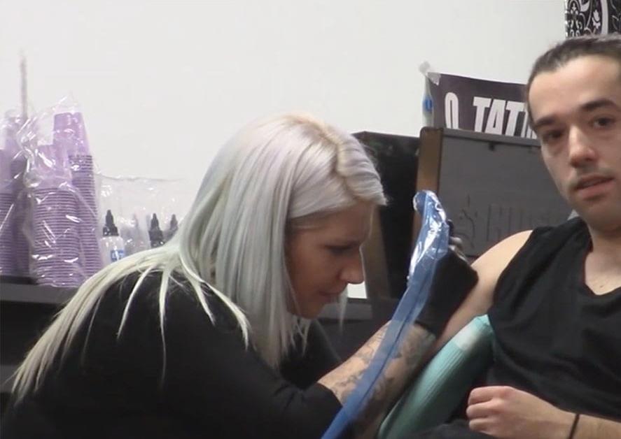 tattoo artist prank