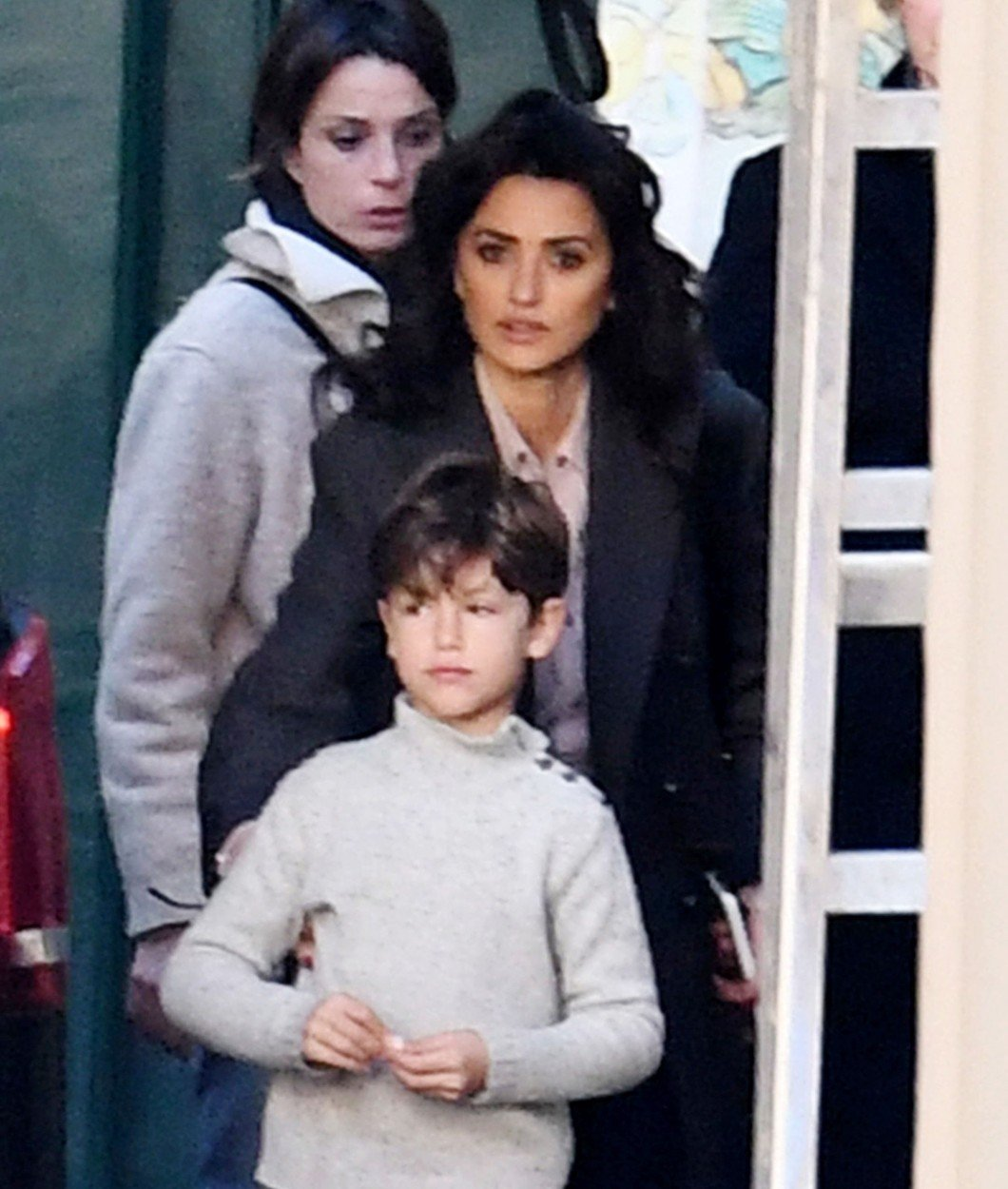 Penelope Cruz finally showed her 7 year old son Leo in Public