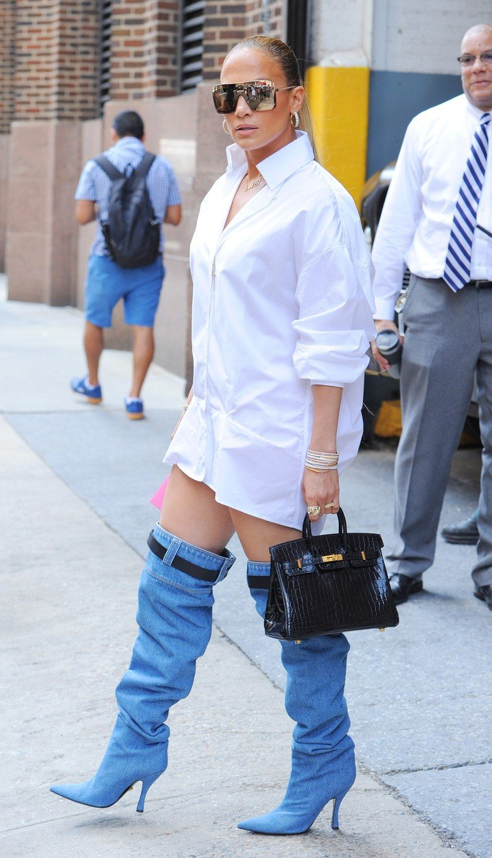 Did You See What Knee High Boots Did Jennifer Lopez Wear In New York City